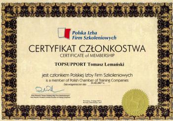 Przyjęcie w poczet Polskiej Izby Firm Szkoleniowych